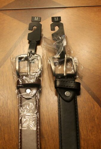 2  New Men/'s Dress  Money Belt 2 Black  /& Brown Medium Money Belt