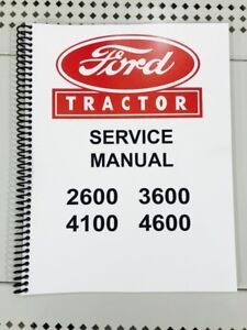 image is loading 2600-ford-tractor-technical-service-shop-repair-manual-