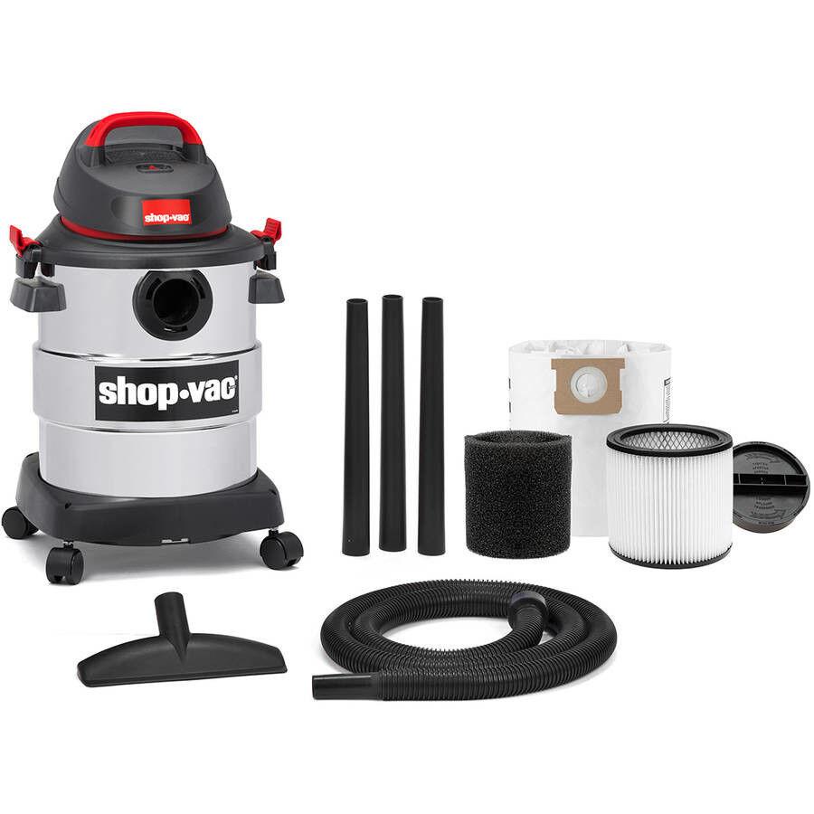 6 Gallon 4.5 Peak HP Stainless Steel Wet Dry Vac Shop-Vac Household Supplies