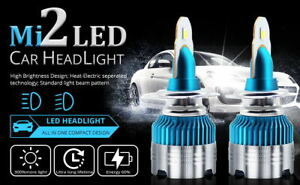 H7 100W COB LED Headlight Bulbs Pair 8000L Canbus For Toyota Celica 1999-2005