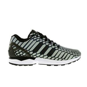 release date: 43b92 e0552 Details about Mens ADIDAS ZX FLUX Navy HI-VIZ Synthetic Trainers AQ4534