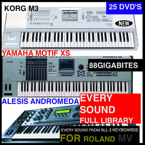 The best roland mv 8800 mv 8000 keyboard samples bundle m3 for Yamaha motif sounds download free