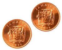 Jamaica Coin Cufflinks - Men's Jewelry - Handmade - Gift Box