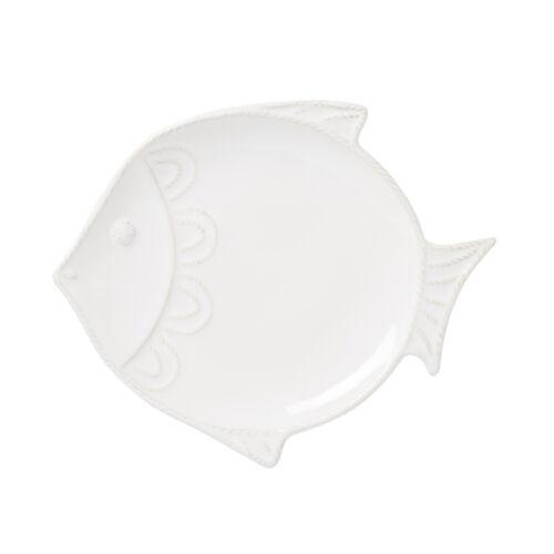"Juliska Berry /& Thread Whitewash /""Fish/"" Dessert//Salad Plate Set of 4"