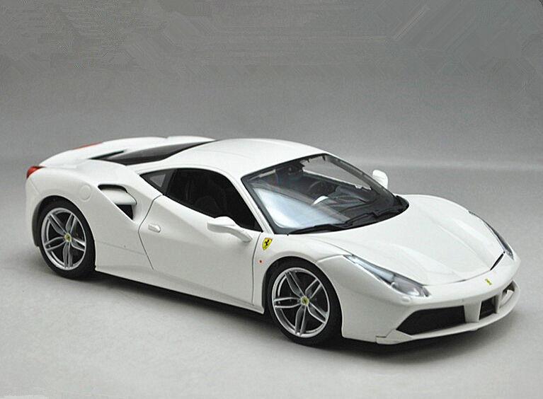 Bburago 1 18 18 18 Ferrari 488 GTB Metal Fundido Modelo de coche nuevo en caja de 2 Colors 1da03b