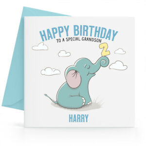Image Is Loading Personalised Boys 1st 2nd 3rd Birthday Card Son