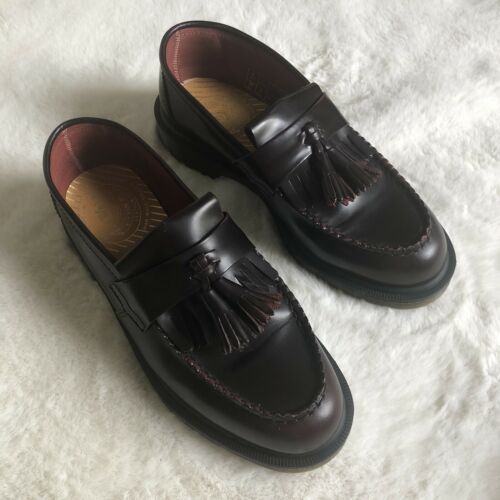 Dr. Martens Adrian Loafers Burgundy England Air Wi