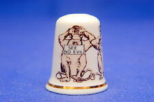 See No Evil, Speak No Evil and Hear No Evil China Thimble B/155