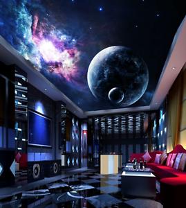3D Planet Adorn Ceiling WallPaper Murals Wall Print Decal Deco AJ WALLPAPER AU
