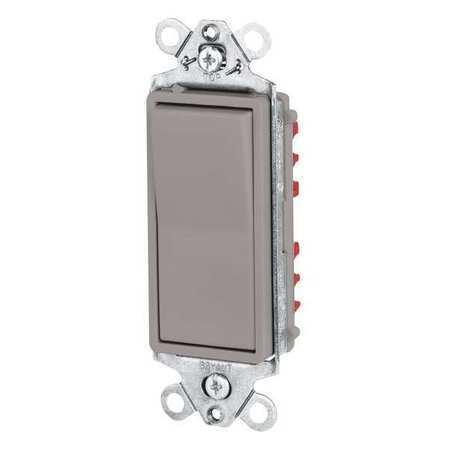 Wall Switch,20A,Gray,1-Pole Type,Rocker BRYANT 9901GRY