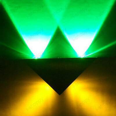 Dimmable/Not 4W LED Wall Sconce Light Fixture Triangle Lamp Bedroom Disco Hotel