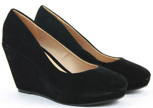 Image is loading Womens-Wedge-Shoes-Wedges-High-Heels-Platform-Court- 3071442b0