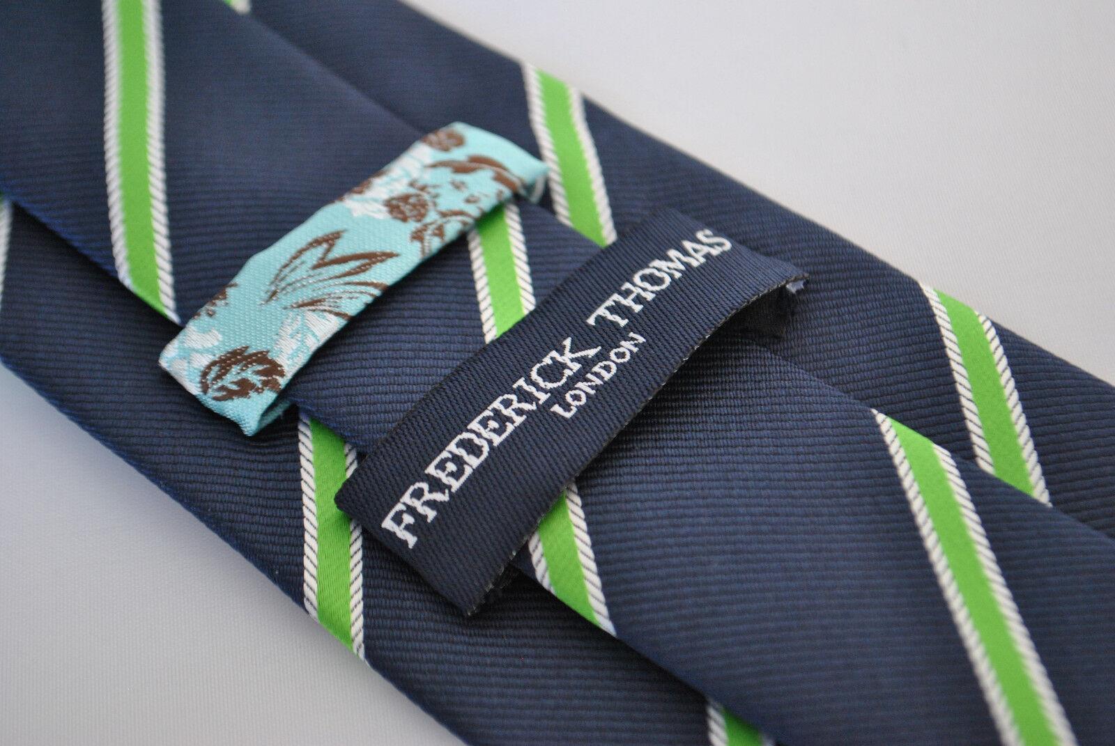 Frederick Thomas Marineblau Krawatte Mit Springende Weiß Hase Hare Design Nordic