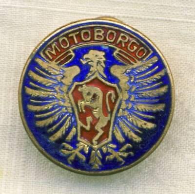 Auto & Motorrad Selbstlos 1920´s Moto Borgo Torino Motorcycles Pin Knopf Motoborgo Badge Motorrad Italy Harmonische Farben