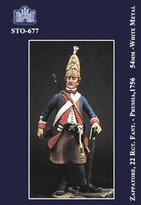 Courageux Ss Sto-677 - 54 Mm - Zappatore Fanteria Prussiana Di Federico Il Grande (1756)