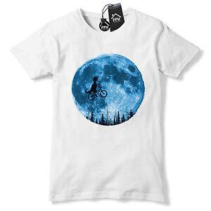 639fc3b1 Details about ET Dinosaur Full Mooon BMX T Shirt Funny Novelty Gift Film  Tshirt Top Tee 503