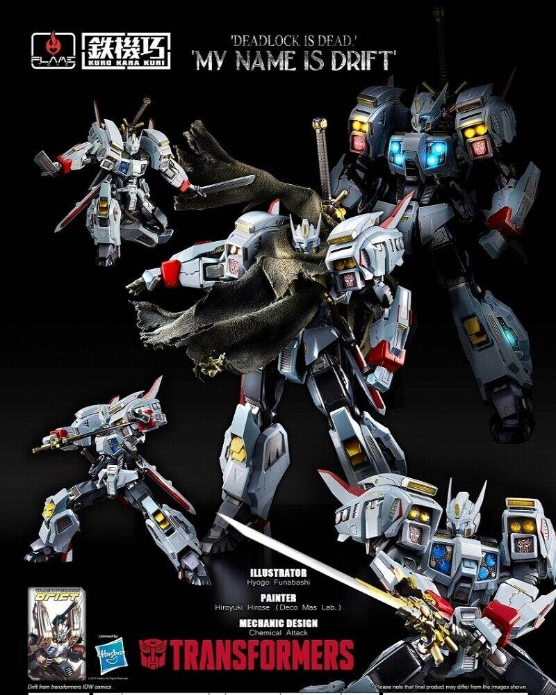 Flame Toys Kuro Kara Kuri 01 Series Transformers Drift 16cm Neu