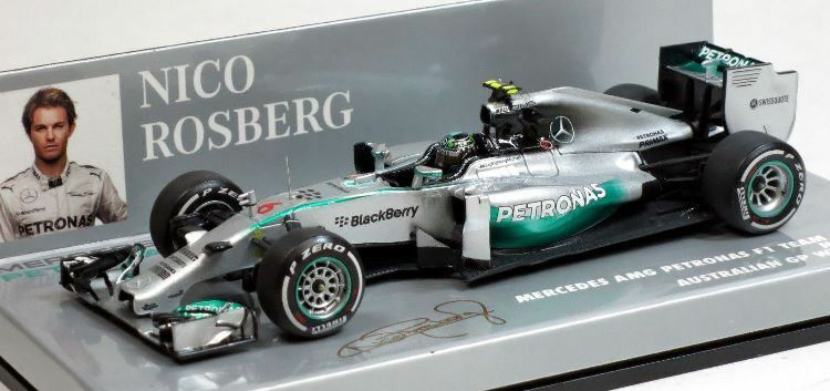 2014 Petronas F1 Nico Rosberg Diecast Model Car in in in 1 43 Scale by Minichamps 23bcd7