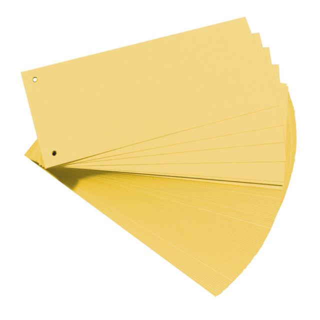 50 Stück Trennstreifen in gelb