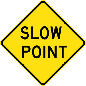 SLOW-POINT-W5-33-SELF-ADHESIVE-STICKER-DECAL-SIGN-HEALTH-amp-SAFETY