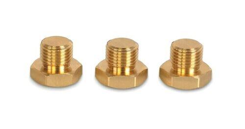 Precisiongeek-Hex supresión Plug-M10 X 1 Métrico Rosca Macho-Latón 3 un.