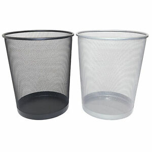 Waste Paper Basket large mesh waste paper bin waste basket home work office rubbish