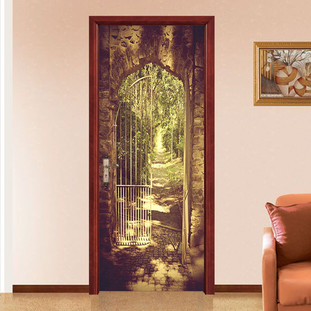 3D Bogen 44 Tür Mauer Wandgemälde Foto Wandaufkleber AJ WALL DE Lemon