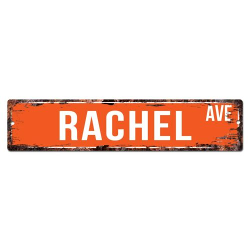 SWNA0079 RACHEL AVE Street Chic Sign Home Store Shop Wall Decor Birthday Gift