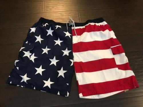 NWT Foundry Big Tall Men/'s Swim Trunks Board Shorts Patriotic