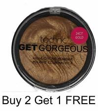 Technic Get Gorgeous 24CT Gold Highlighting Powder Contour Face Make Up