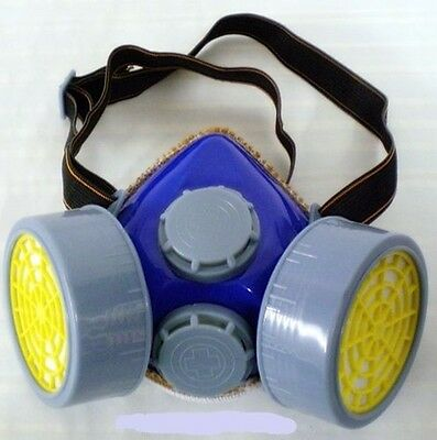 DUST MASK RESPIRATOR PROTECTION PAINTING SANDING TWIN SAFETY GAS CARTRIGE FILTER