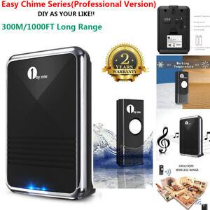 1byone-1000ft-Long-Range-Wireless-Door-Bell-Battery-Digital-Doorbell-Push-Button