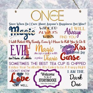 once upon a time tv show quotes plaque birthday gift plaque sign