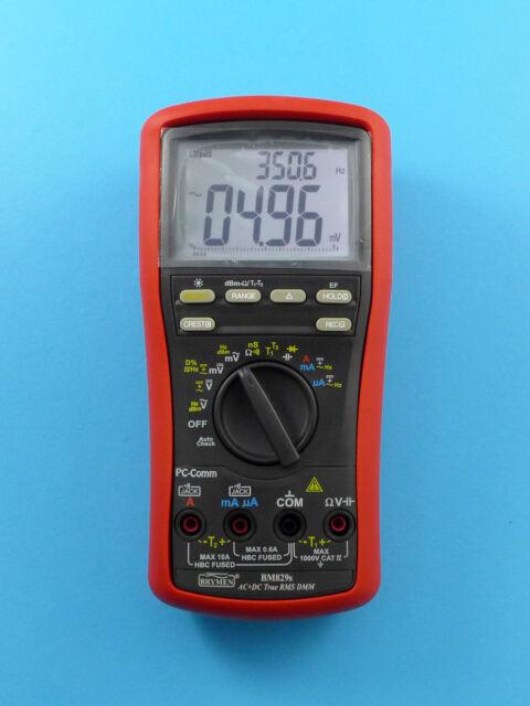 Brymen BM829S Digital Multimeter Dual Display AC+DC TRMS Dual Temp 10,000-Count