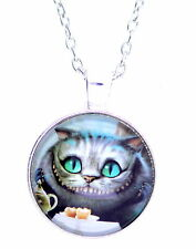 Alice in wonderland resin Cheshire Cat pendant necklace