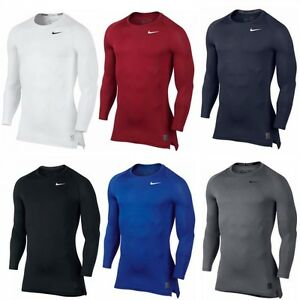 Détails sur Nike Pro Cool Compression Long Manche Top Hommes Compression Shirt afficher le titre d'origine