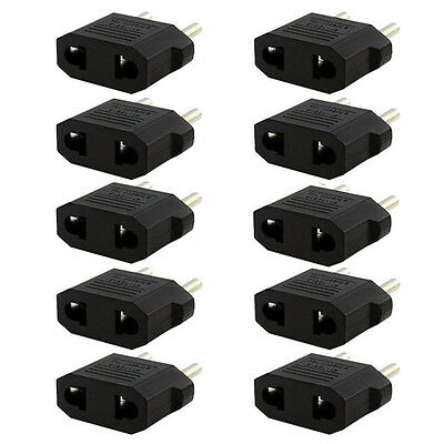 Lot 3Pcs US/USA AUS to European EU Travel Charger Adapter Plug Outlet Converter