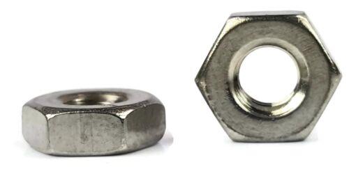 Stainless Steel Finish Hex Machine Screw Nut #4-40 Qty 1000
