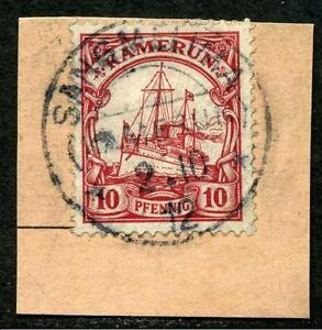 Kamerun Mi 22 PA-Briefstück Sangmelima - Hallschlag, Deutschland - Kamerun Mi 22 PA-Briefstück Sangmelima - Hallschlag, Deutschland