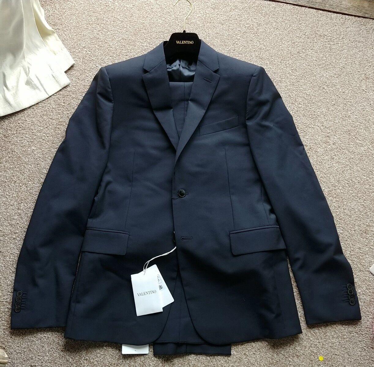 Valentino Suit Navy EU48 UK38 BNWT (has VC Guarantee) Wool Mohair