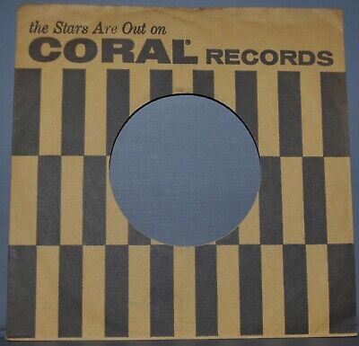 """Music Liberal 1x 45 Rpm Coral Stars Are Out Stripes Company Sleeve Original Record Sleeves 7"""" In Short Supply"""