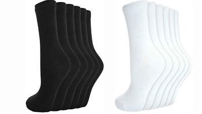 Men's Women Ladies Cotton Socks Everyday Uniform School Casual Black/white Socks