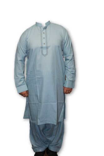F02Pakistani Indian Men Fine Design  Kurta Shalwar