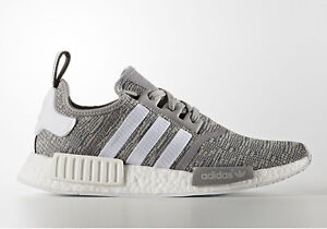 buy online 2326e 002ed Image is loading Adidas-NMD-Runner-R1-Glitch-Solid-Grey-White-