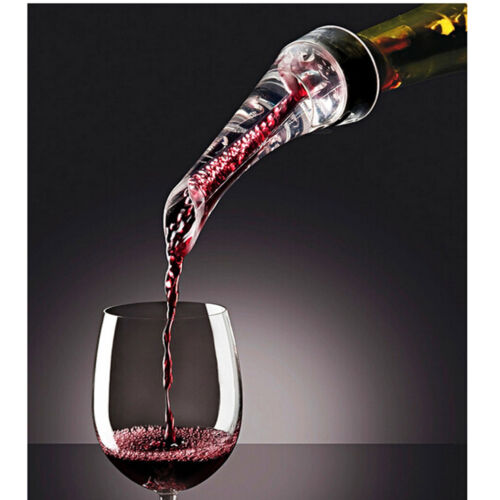 Red Wine Bottle Aerator Decanter Aerating Pourer Spout Bar Accessory Set New