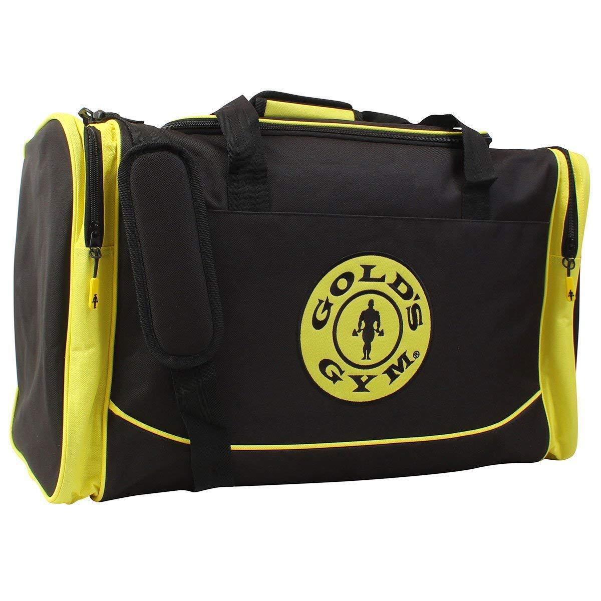 oro's Gym Large Nero & Giallo Sport Duffel Da Uomo Kit Gear Bag Borsone Viaggio