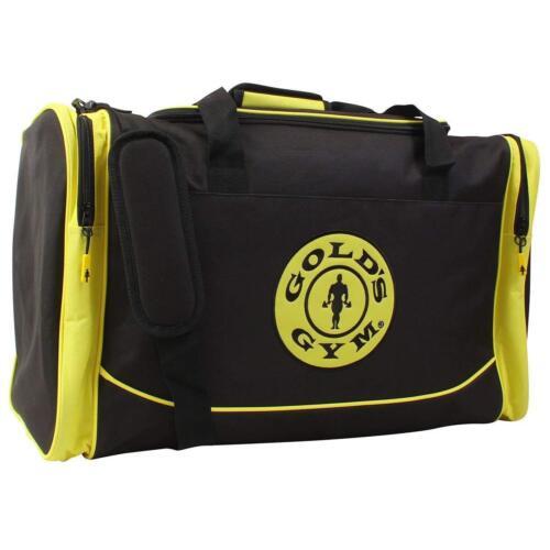 Gold/'s Gym Large Noir /& Jaune Sports Duffel Homme Kit Gear Sac de Voyage Holdall