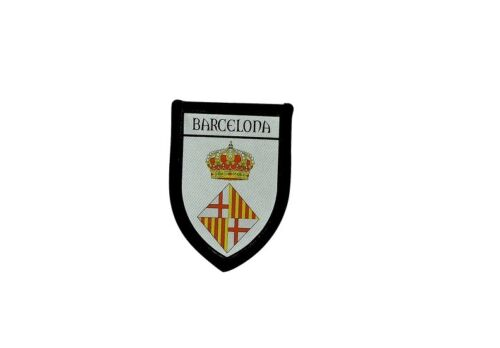 Patch Embroidered Thermoadhesive Printed Coat of Arms Flag Patch Barcelona