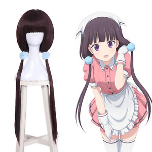 Blend-S-Sakuranomiya-Maika-Wig-Long-Straight-Dark-Purple-2-Ponytails-Cosplay