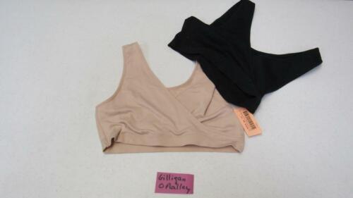 Gilligan /& O/'Malley Nursing Bra Pullover Seamless Black /& Beige UPick Size NEW